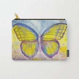 Yellow and blue butterfly Carry-All Pouch