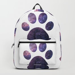 Purple Paw Galaxy Backpack
