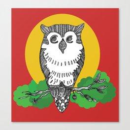Happy go lucky owl Canvas Print
