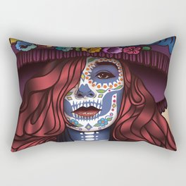 Lady Catrina Day of the Dead Rectangular Pillow