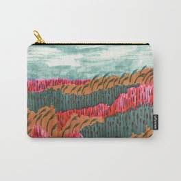 Quiet Place brush pen illustration by Amanda Laurel Atkins Carry-All Pouch
