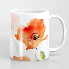 Midsummer Botanical Poppy Garden Coffee Mug