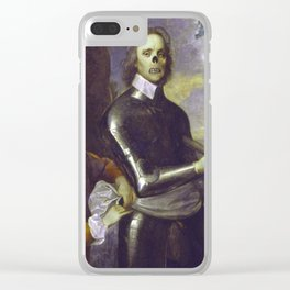 Zombie Oliver Cromwell Clear iPhone Case
