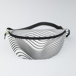 Wave Stripes Curve Fanny Pack