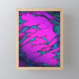 Fractured anger pink Framed Mini Art Print