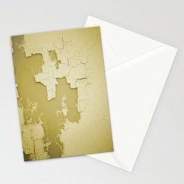 Damaged wall pic in background with yellow color, ready for clothes,furnitures, iphone cases Stationery Cards