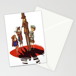 Layton in Gravity Falls Stationery Cards
