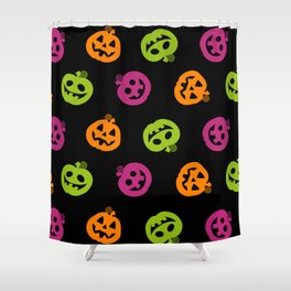 Fanciful Jack O' Lanterns Halloween Pattern Shower Curtain