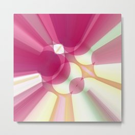Striations Pinks and Beiges Metal Print
