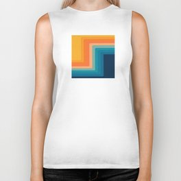 Retro 70s Color Lines Biker Tank