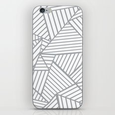 Abstraction Lines Zoom Grey iPhone & iPod Skin