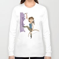 megan lara Long Sleeve T-shirts featuring Lara Croft by James Loram