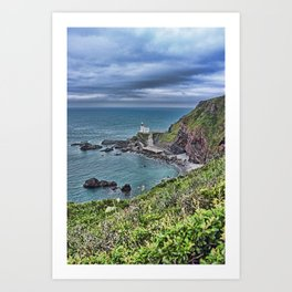 Hartland Point Devon Art Print