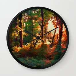 A Light in the Forest Wall Clock