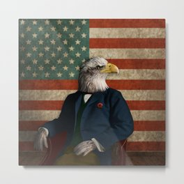 Official Portrait of Senator Silas Eagle Metal Print