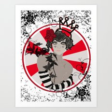 Striped Queen Art Print