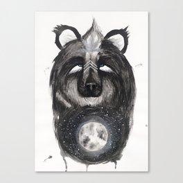 Selene the Moon Bear. Canvas Print