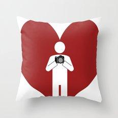 T-Shirt I Love Photography T-Shirt Throw Pillow