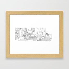 Ben at Home Framed Art Print