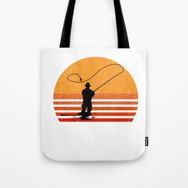 Vintage Fly Fishing Angler Gift Tote Bag