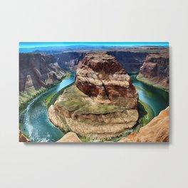 Horseshoe Bend - Grand Canyon, Colorado River View No. 1 Metal Print