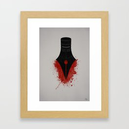 The sword is mightier than the pen Framed Art Print