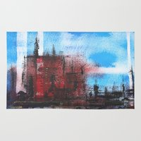 cityscape Area & Throw Rugs featuring Cityscape by Alfred Raggatt