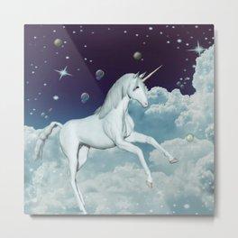 Lovely Unicorn in the sky Metal Print