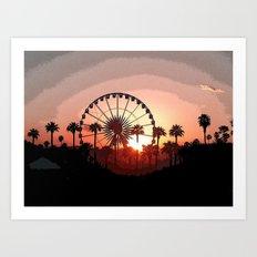 Coachella Sunset 2 Art Print
