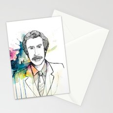 Ron Burgundy, Anchorman of Legend Stationery Cards