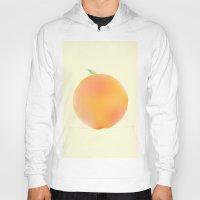 peach Hoodies featuring Peach by Jonah Grindler