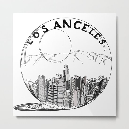 Los Angeles in a glass ball Metal Print