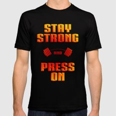 Stay Strong Mens Fitted Tee Black MEDIUM