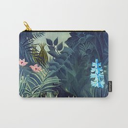 The Equatorial Jungle with Lions by Henry Rousseau Carry-All Pouch