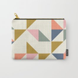 Floating Triangle Geometry Carry-All Pouch