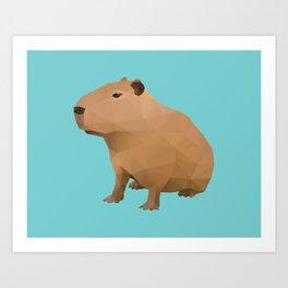 Capybara Polygon Art Art Print