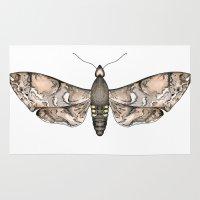 moth Area & Throw Rugs featuring Moth by Raffles Bizarre