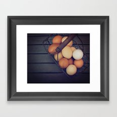 all your eggs Framed Art Print