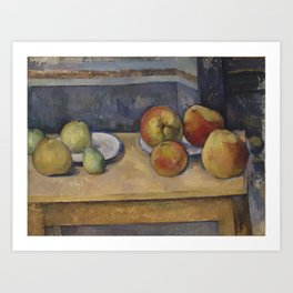 Still Life With Apples and Pears Art Print