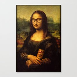A Hipster Mona Lisa Canvas Print