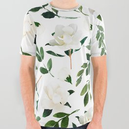 Magnolia All Over Graphic Tee