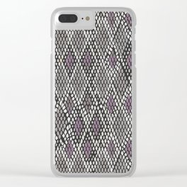Grey and Purple Python Clear iPhone Case