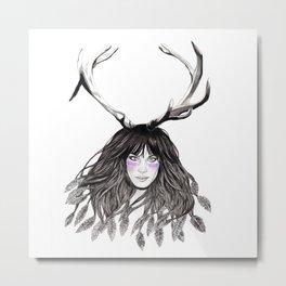 Featherwood Metal Print