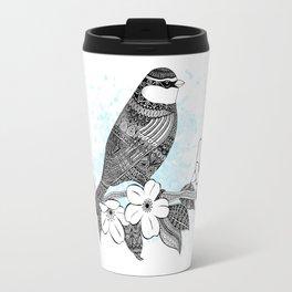 Bird and cherry blossoms Travel Mug