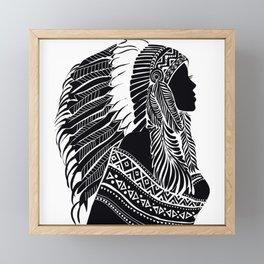 Native American Woman Framed Mini Art Print