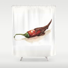 Chocolate Covered Pepper Shower Curtain