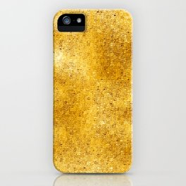 Pixillated Gold Foil iPhone Case