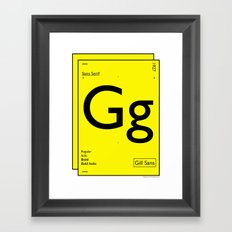 Gill Sans Framed Art Print
