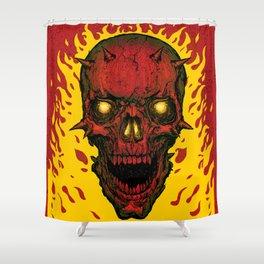 High on Fire Shower Curtain
