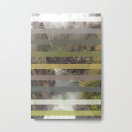 Cleveland Dam, North Vancouver stripes Metal Print